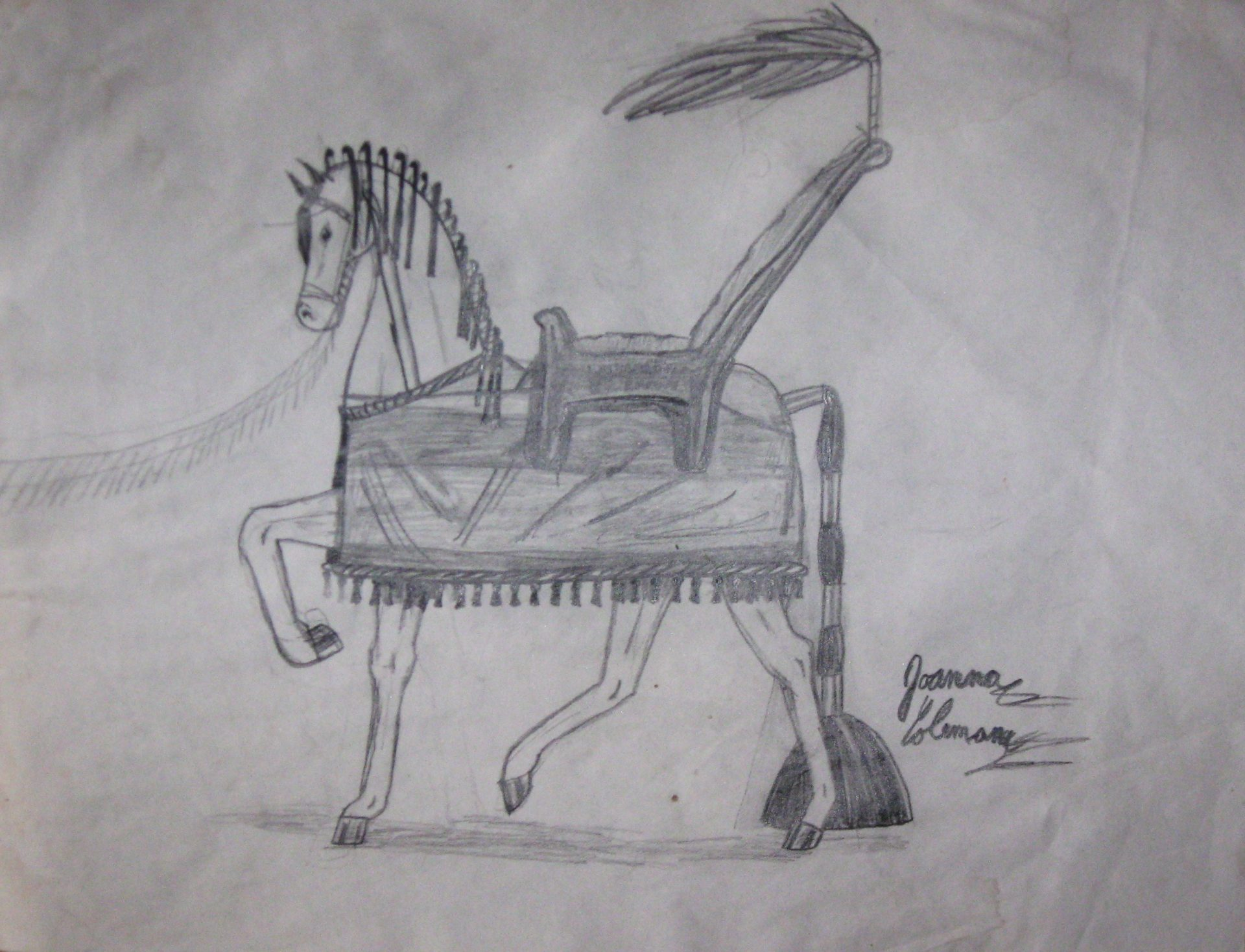 A drawing from when Joanna was around 11 years old.