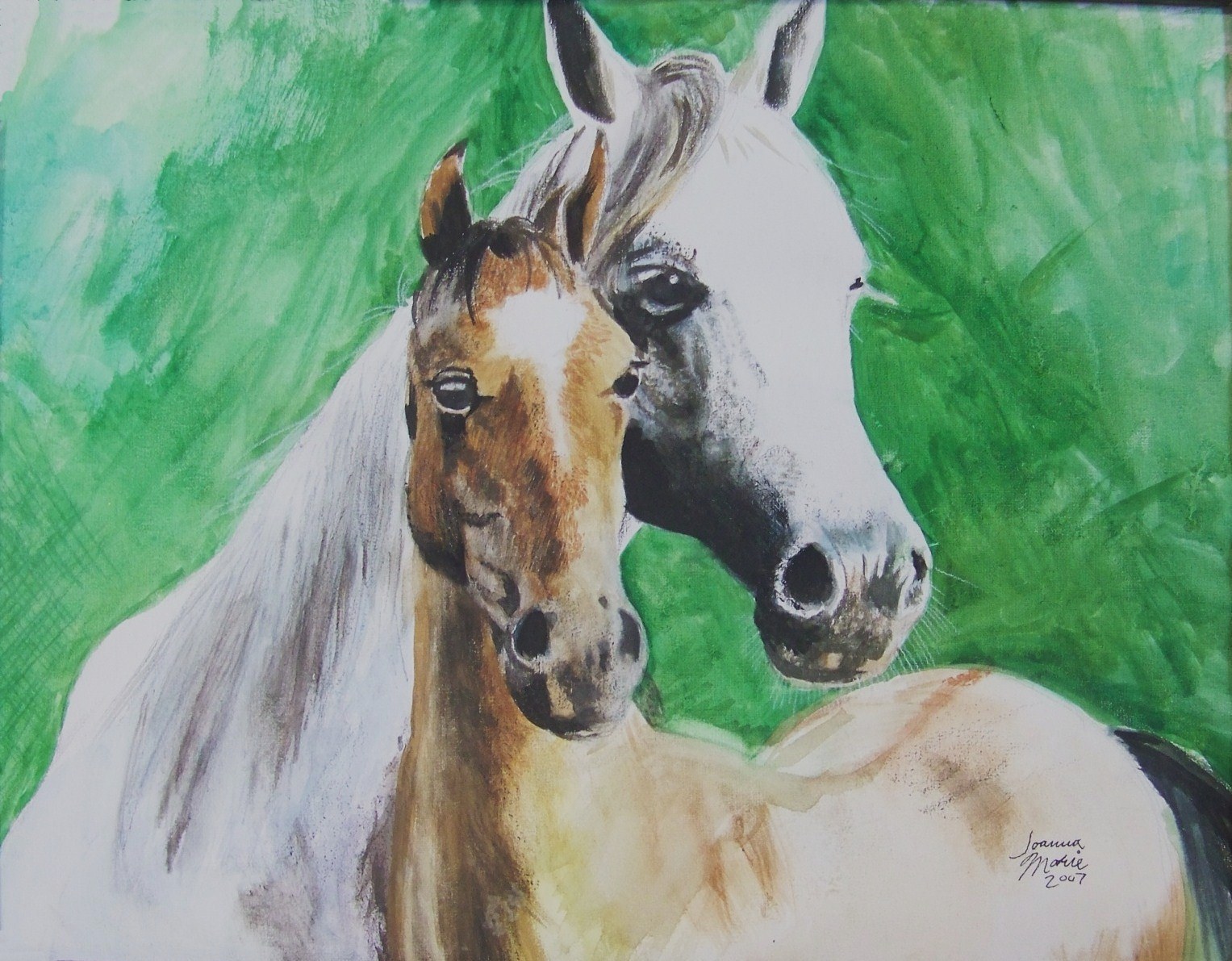 Mama and Baby, 2007, 11x14, Watercolor Paint