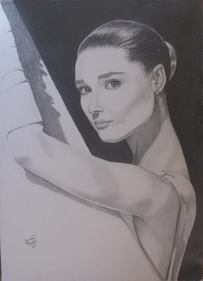 Audrey, 2011, 16x20, Graphite Pencil