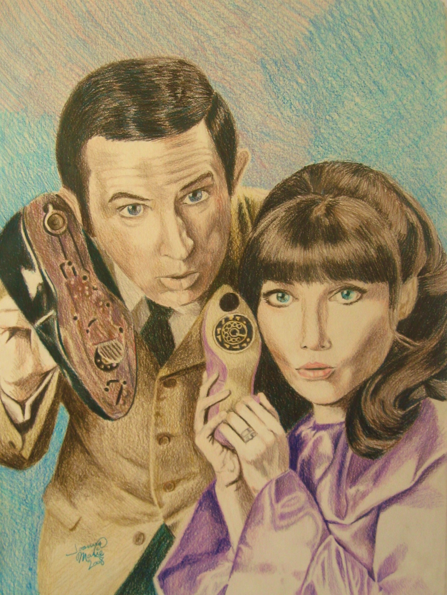 Get Smart, 2008, 11x14, Colored Pencil