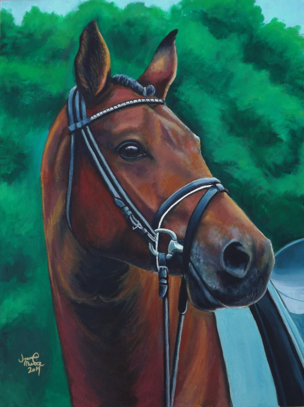 Heart of a Racer, 2015, 18x24, Oil Paint