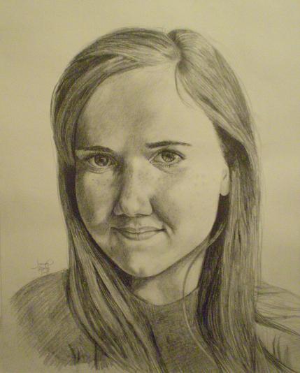Tabitha: A Portrait, 2009, 16x20, Graphite Pencil
