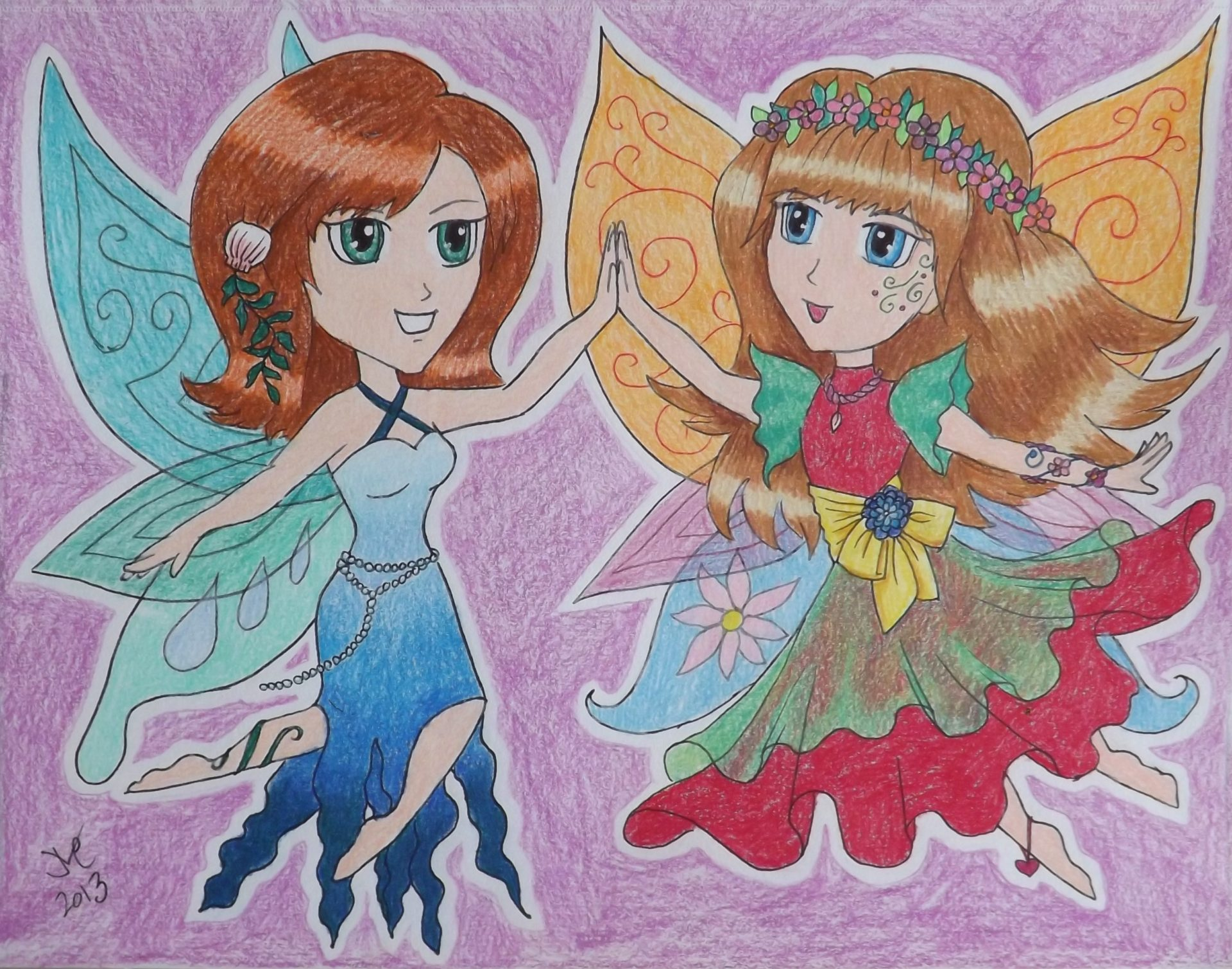 Sisterhood, 2013, 8x10, Colored Pencil