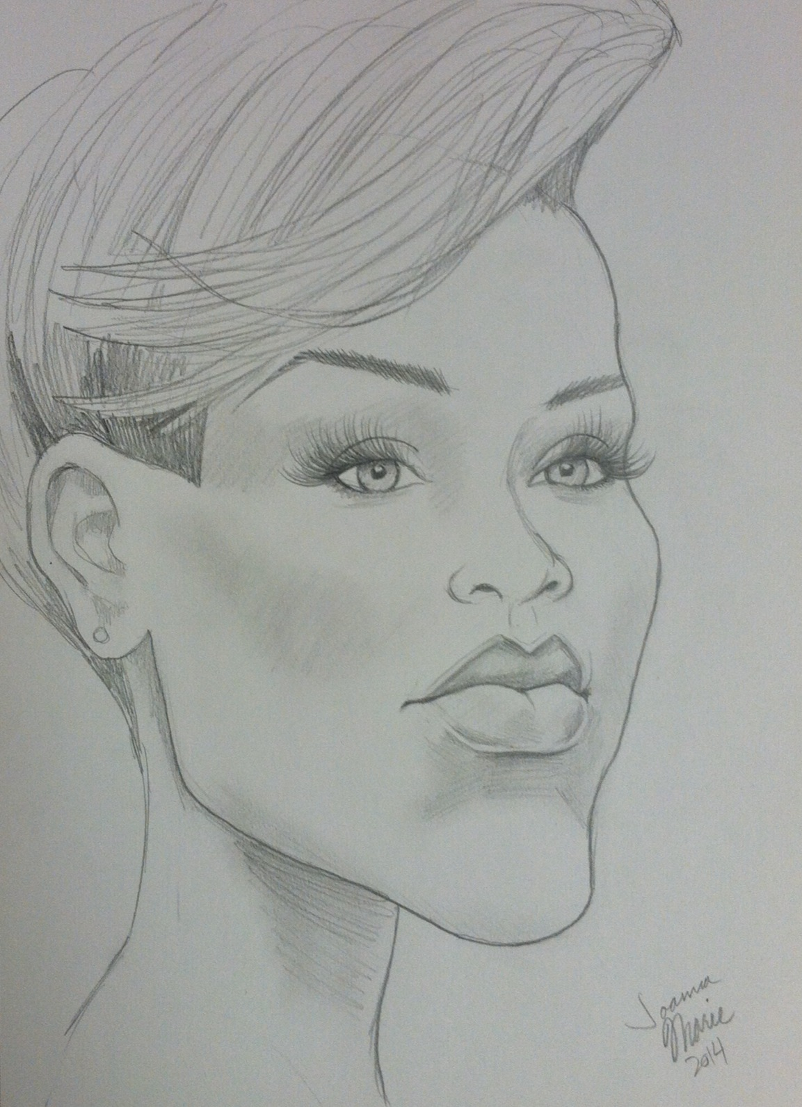 Rihanna , 2014, 8x10, Graphite Pencil