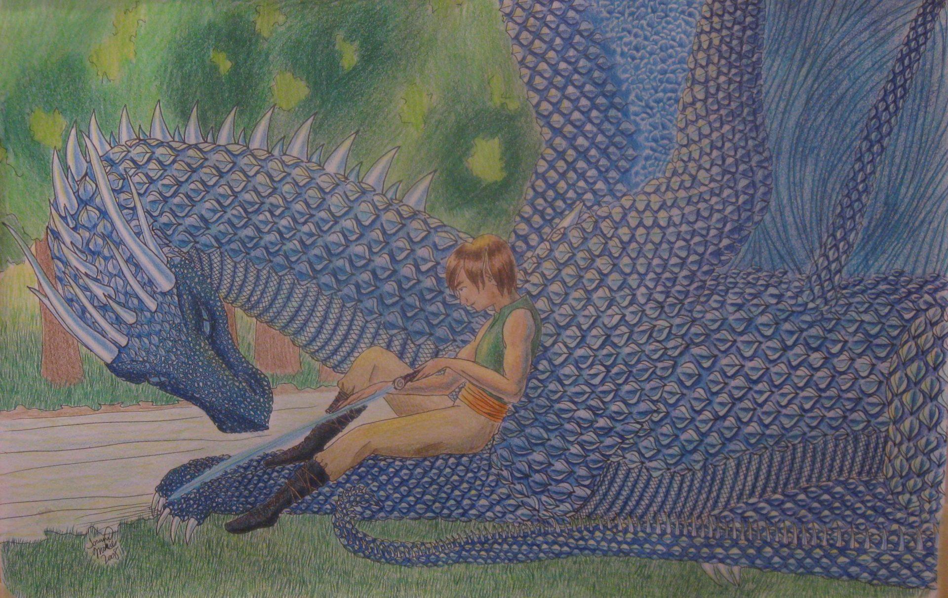 Eragon, 2009, 12x16, Colored Pencil