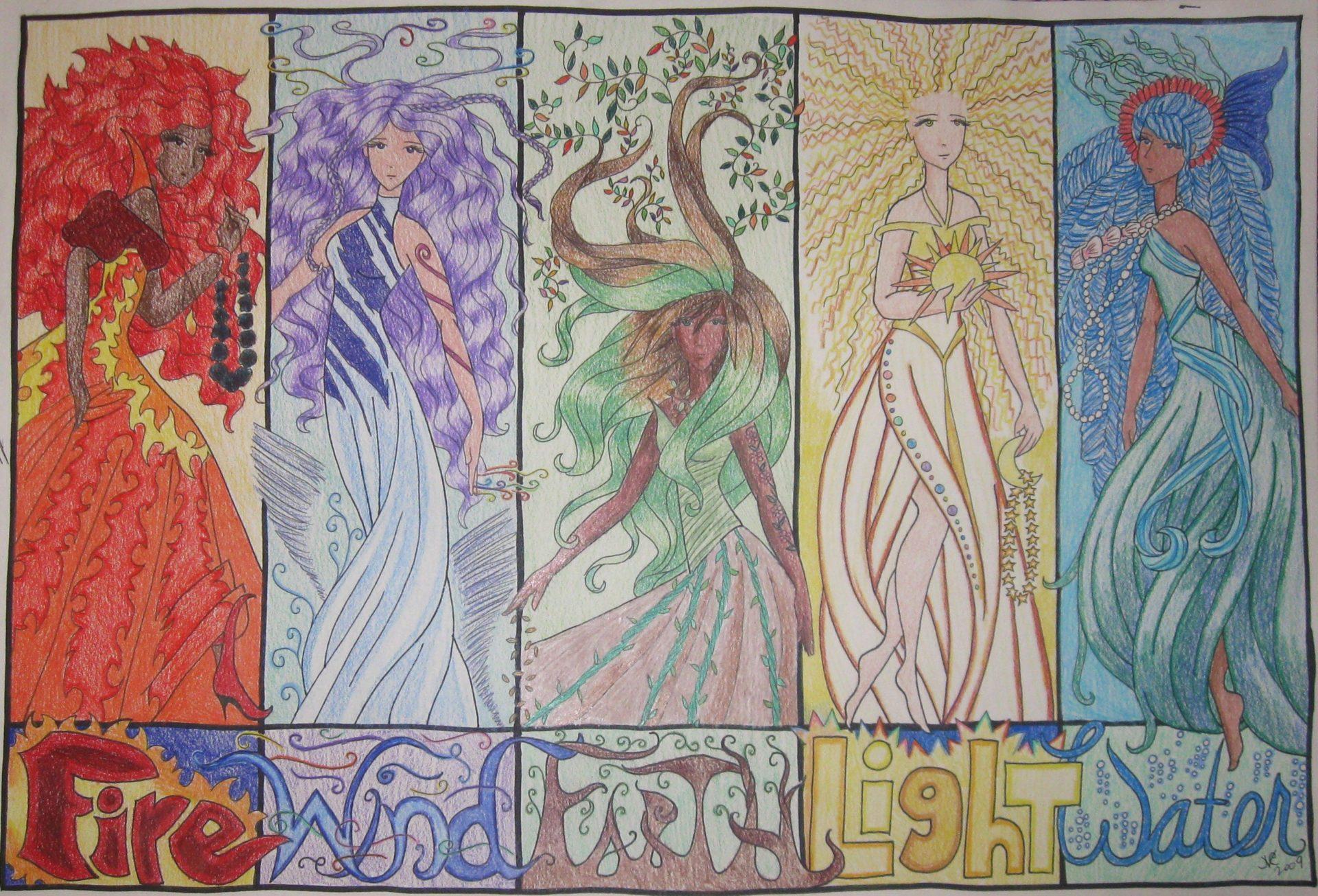 Elemental, 2009, 12x16, Colored Pencil