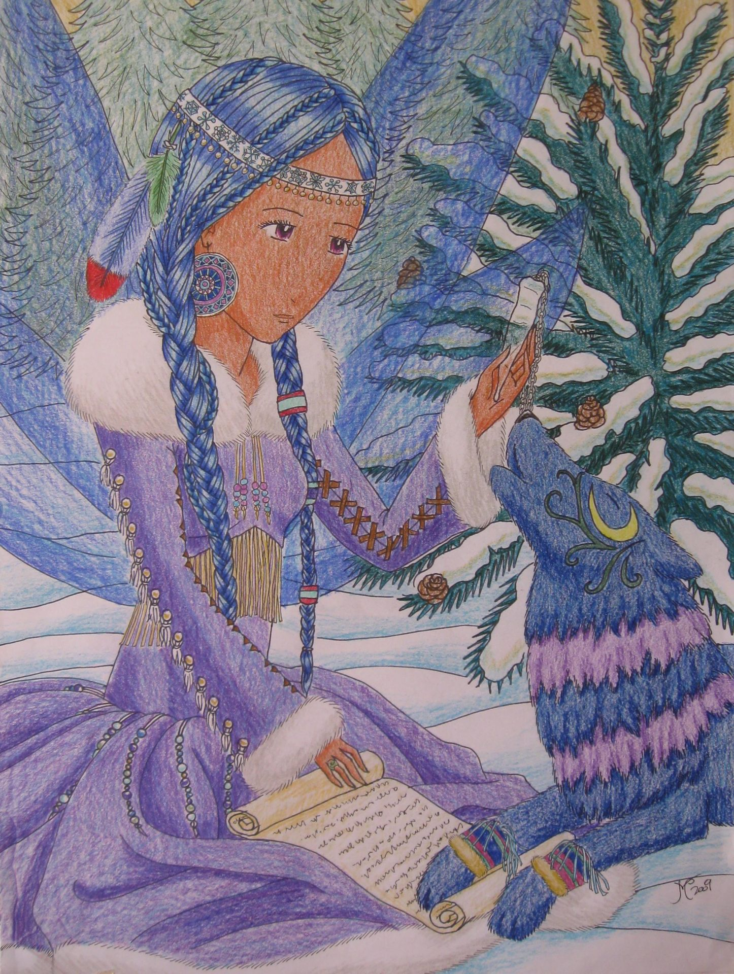 Winter, 2009, 12x16, Colored Pencil