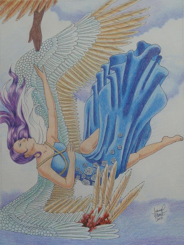 Broken, 2012, 12x16, Colored Pencil