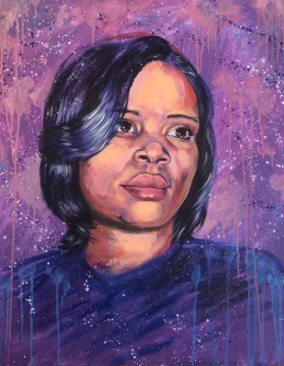 """Atatiana Jefferson, 33""""x33"""", Acrylic"""