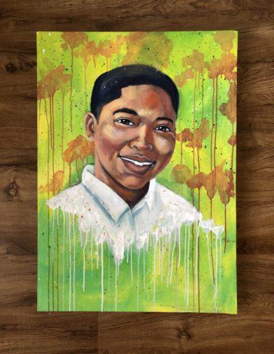 """Tamir Rice, 24""""x36"""", Acrylic"""